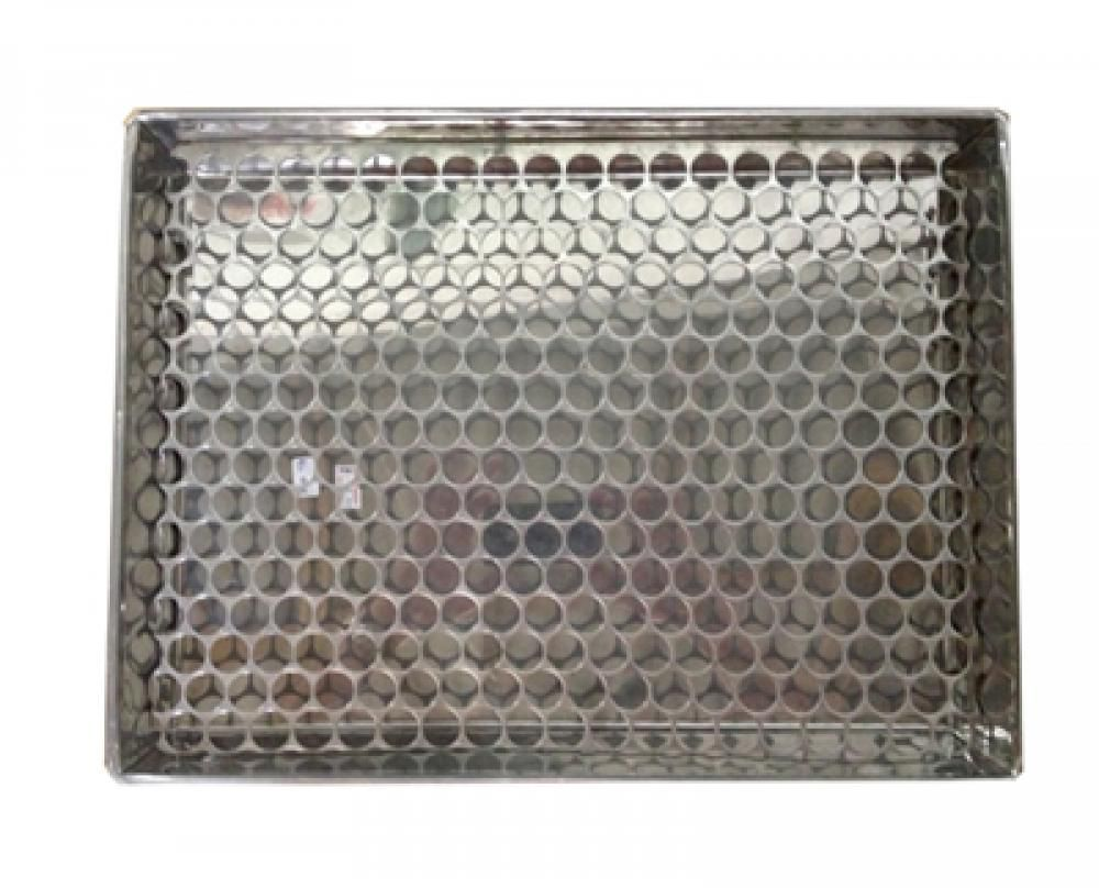 Assadeira Inox com Grelha Inox  40 x 30 x 5,5 cm.  - Lojão de Ofertas