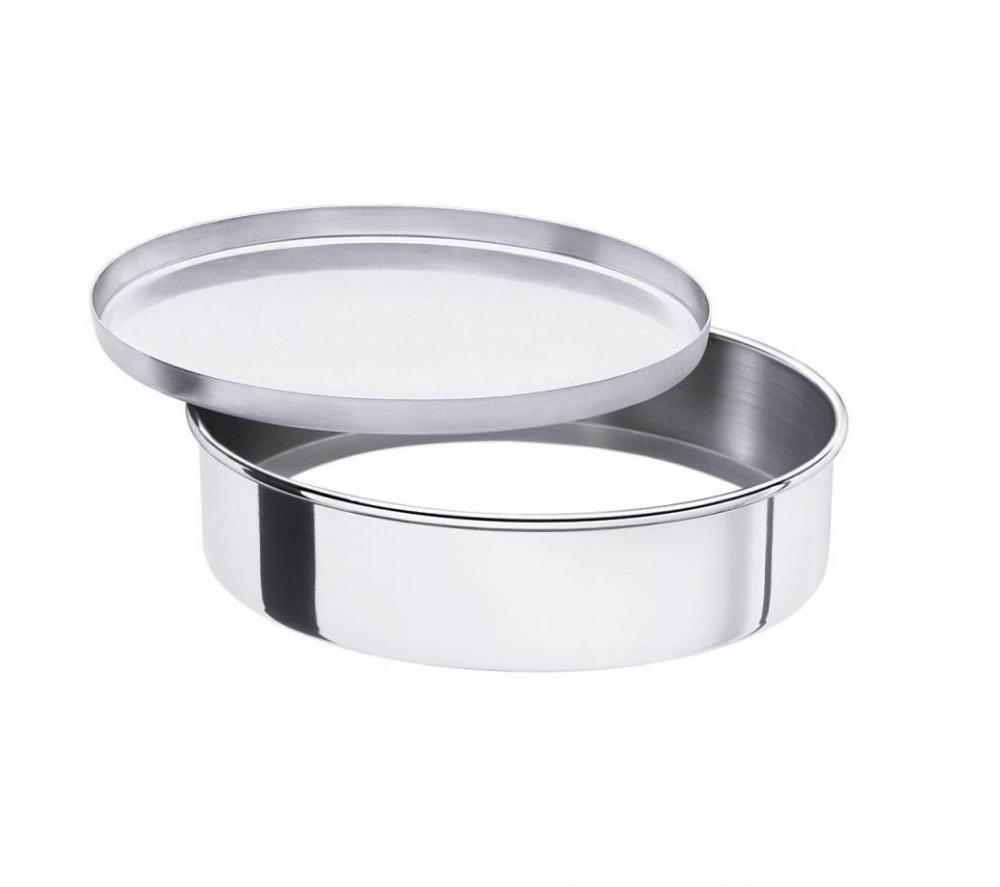 Assadeira Redonda 30 cm c/ Fundo Falso - Alumínio ABC  - Lojão de Ofertas