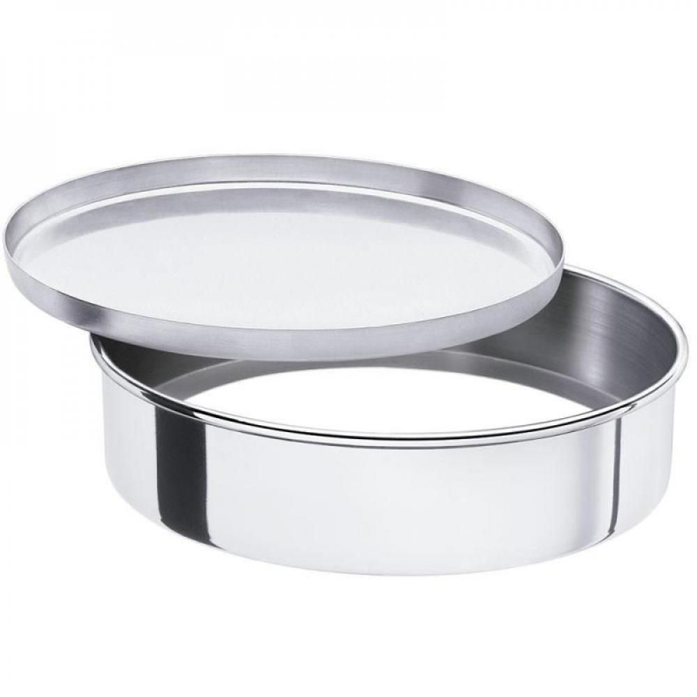 Assadeira Redonda 35 cm c/ Fundo Falso - Alumínio ABC  - Lojão de Ofertas