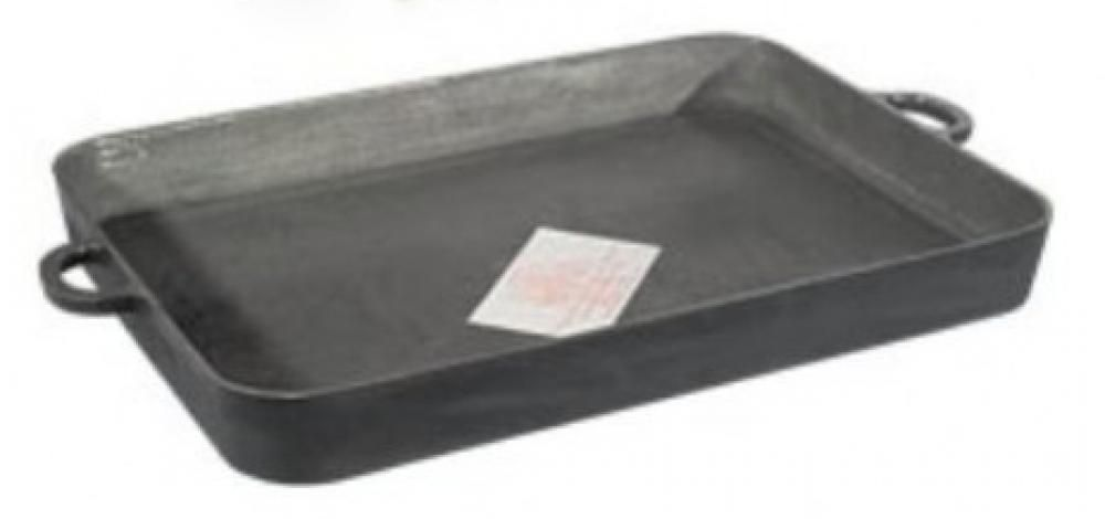Assadeira Retangular de Ferro 29 x 19 x 3,5 cm - Fundição Estrela  - Lojão de Ofertas