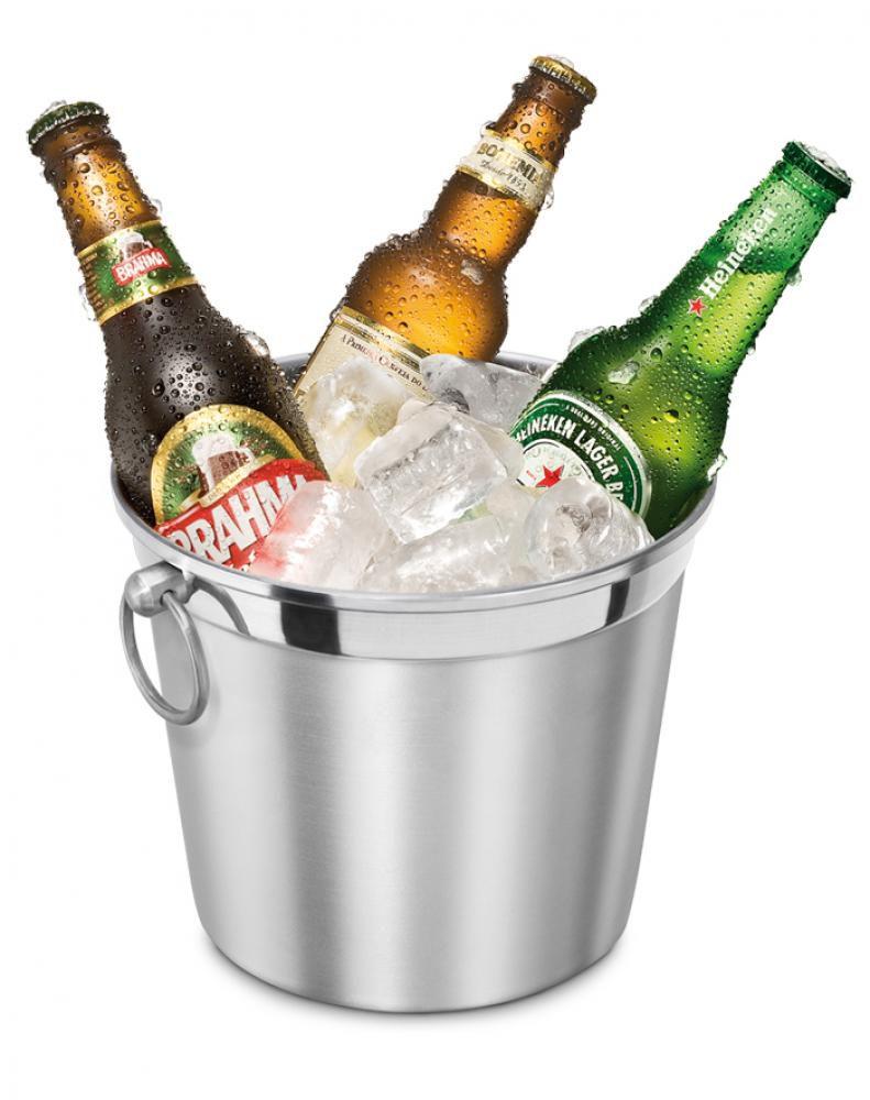 Balde de Gelo 4,5 litros com Argola - Alumínio ABC  - Lojão de Ofertas