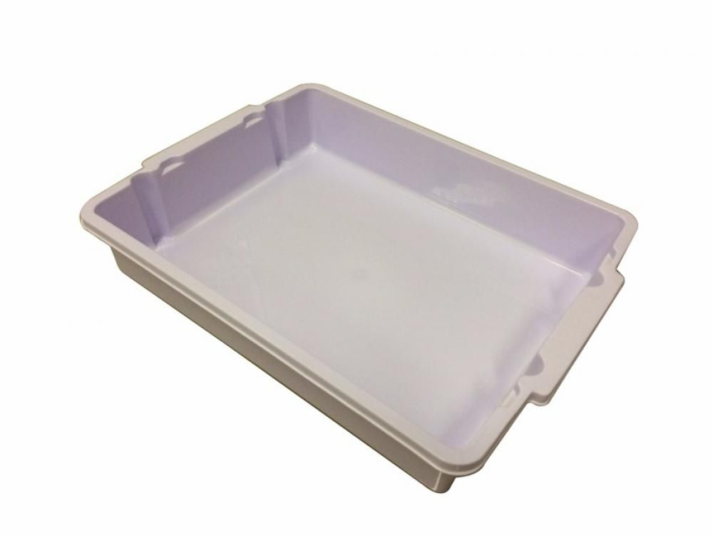 Bandeja Empilhável 5,5 litros de plástico branco - UZ utilidades  - Lojão de Ofertas