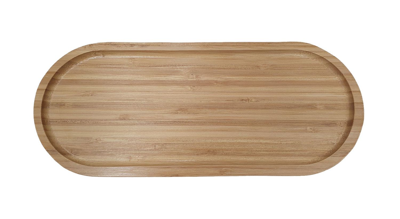 Bandeja Oval 34 x 14,1 cm - Bambu - Mimo Style  - Lojão de Ofertas