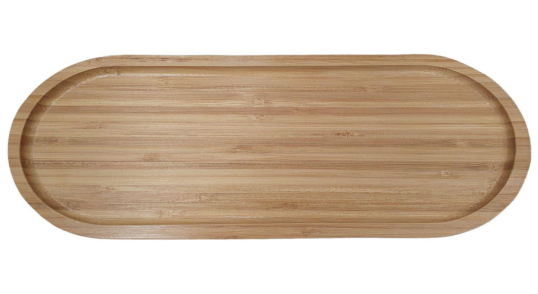 Bandeja Oval 44 x 16,5 cm - Bambu - Mimo Style  - Lojão de Ofertas