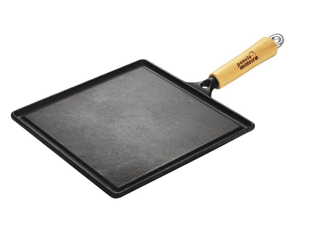 Bifeteira Quadrada Lisa 26 cm - Panela Mineira  - Lojão de Ofertas