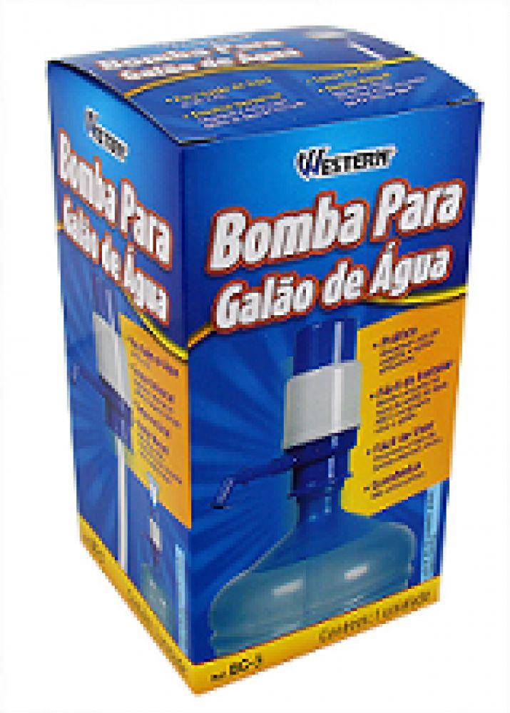 Bomba Manual para Galão de Água 10L ou 20L - Western  - Lojão de Ofertas