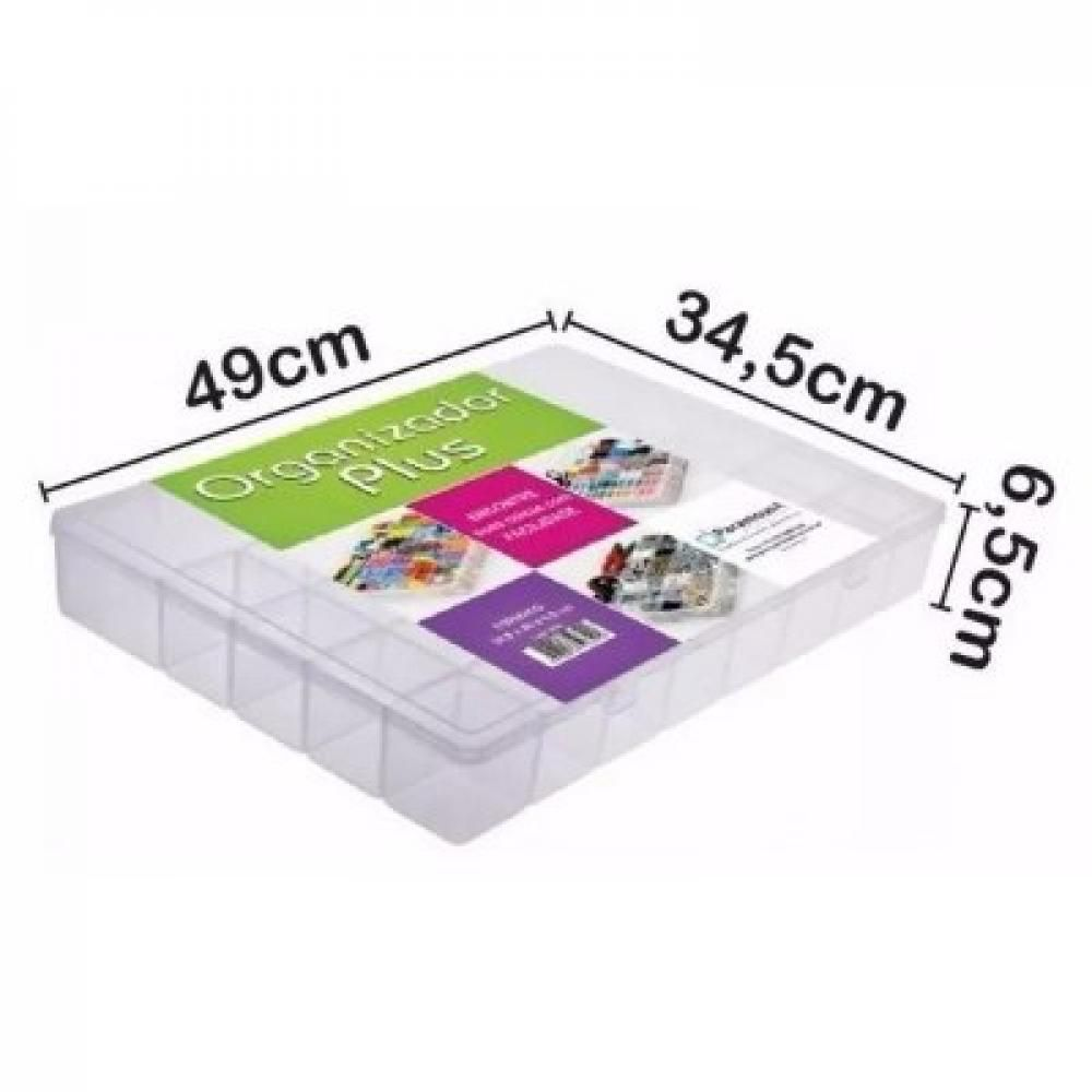 Box Organizador Plus 49 x 34,5 x 6,5 cm - Paramount  - Lojão de Ofertas