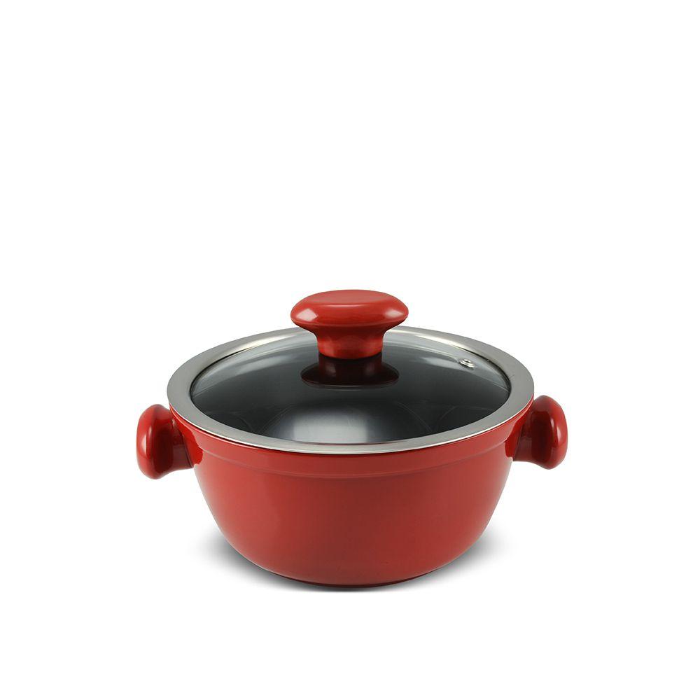 Caçarola 18 cm - 1,3 litros - Vermelha - Linha Chef - Ceraflame  - Lojão de Ofertas