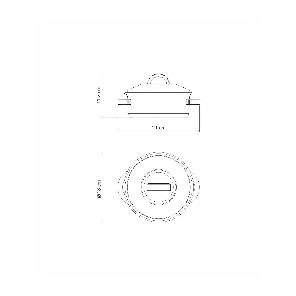 Caçarola Inox 16 cm 1,4 litros - linha Solar - Tramontina  - Lojão de Ofertas