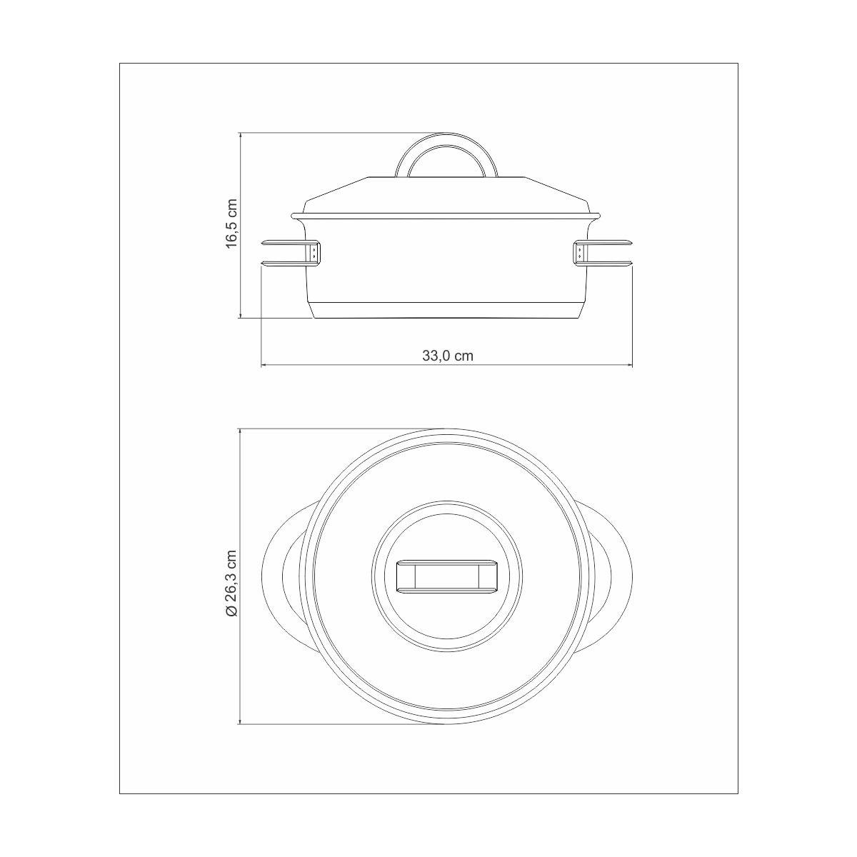 Caçarola Inox 24 cm 4,7 litros - linha Solar - Tramontina  - Lojão de Ofertas