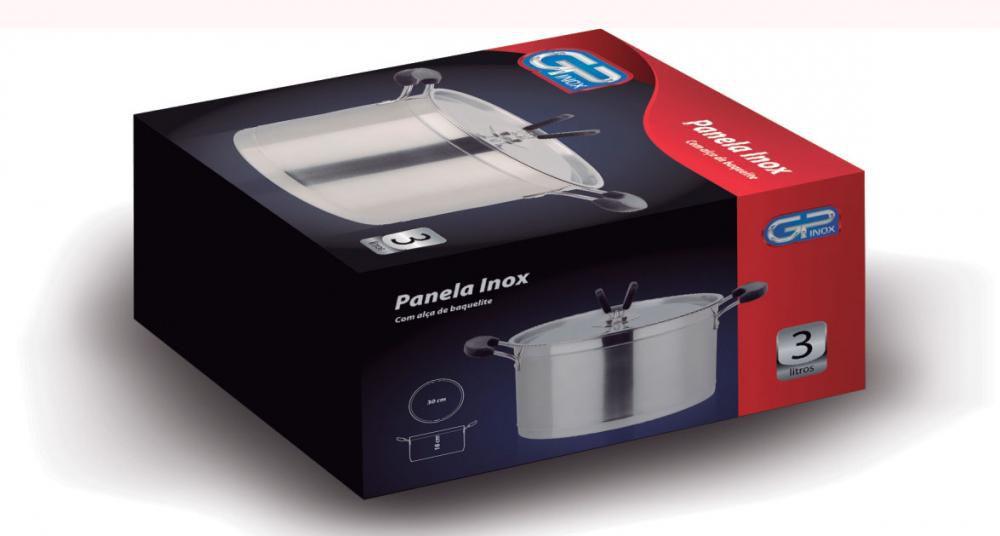 Caçarola Inox 24 cm - 5,5 litros - GP Inox  - Lojão de Ofertas