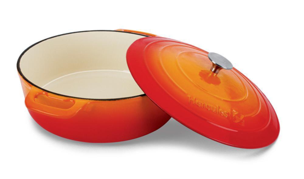 Caçarola Redonda 28 cm - 5 litros - Ferro Fundido Esmaltado - Hércules  - Lojão de Ofertas