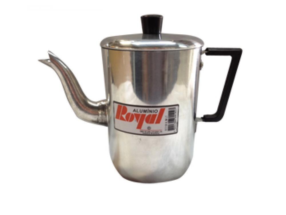 Cafeteira 1 litro - Polida - Alumínio Royal  - Lojão de Ofertas
