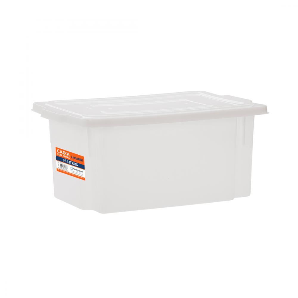 Caixa 5 litros com Tampa 16 x 32 x 13,5 cm - Paramount  - Lojão de Ofertas