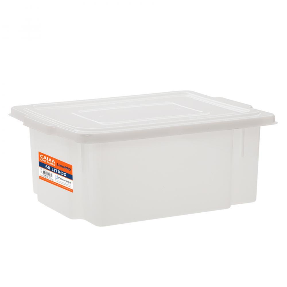Caixa 60 litros com Tampa 44 x 64 x 27 cm - Paramount  - Lojão de Ofertas