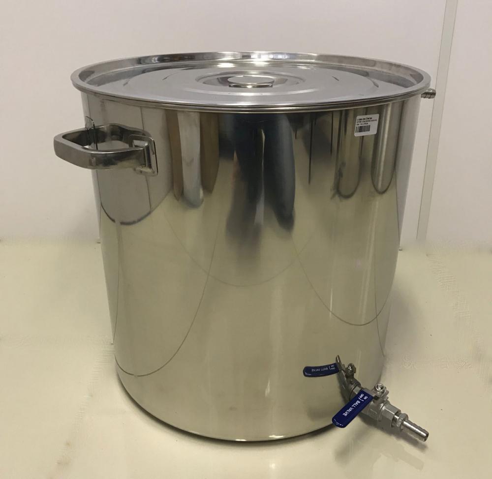 Caldeirão Cervejeiro Inox para Fervura - 55 cm - 125 Litros - com Registro  - Lojão de Ofertas