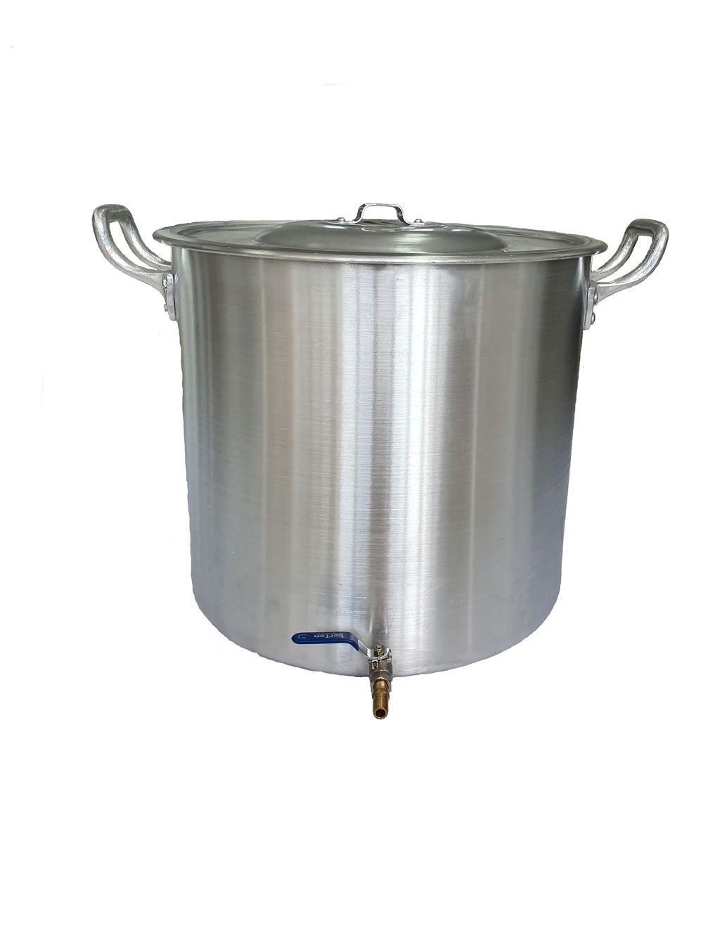 Caldeirão Cervejeiro 118 litros - 55 cm - com Registro - Alumínio ABC  - Lojão de Ofertas