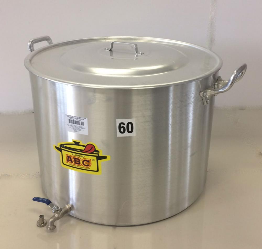 Caldeirão Cervejeiro 127 litros - 60 cm - com Registro - Alumínio ABC  - Lojão de Ofertas