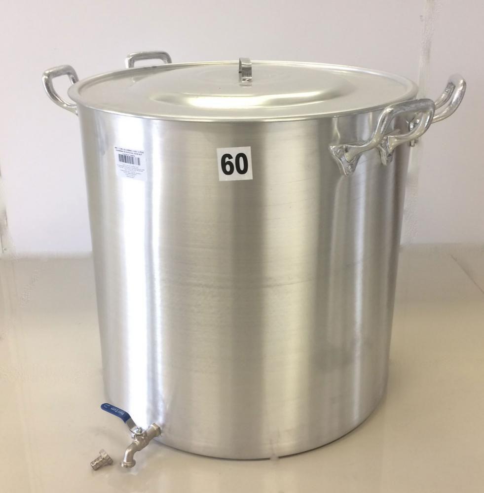 Caldeirão Cervejeiro 170 litros - 60 cm - com Registro - Alumínio ABC  - Lojão de Ofertas