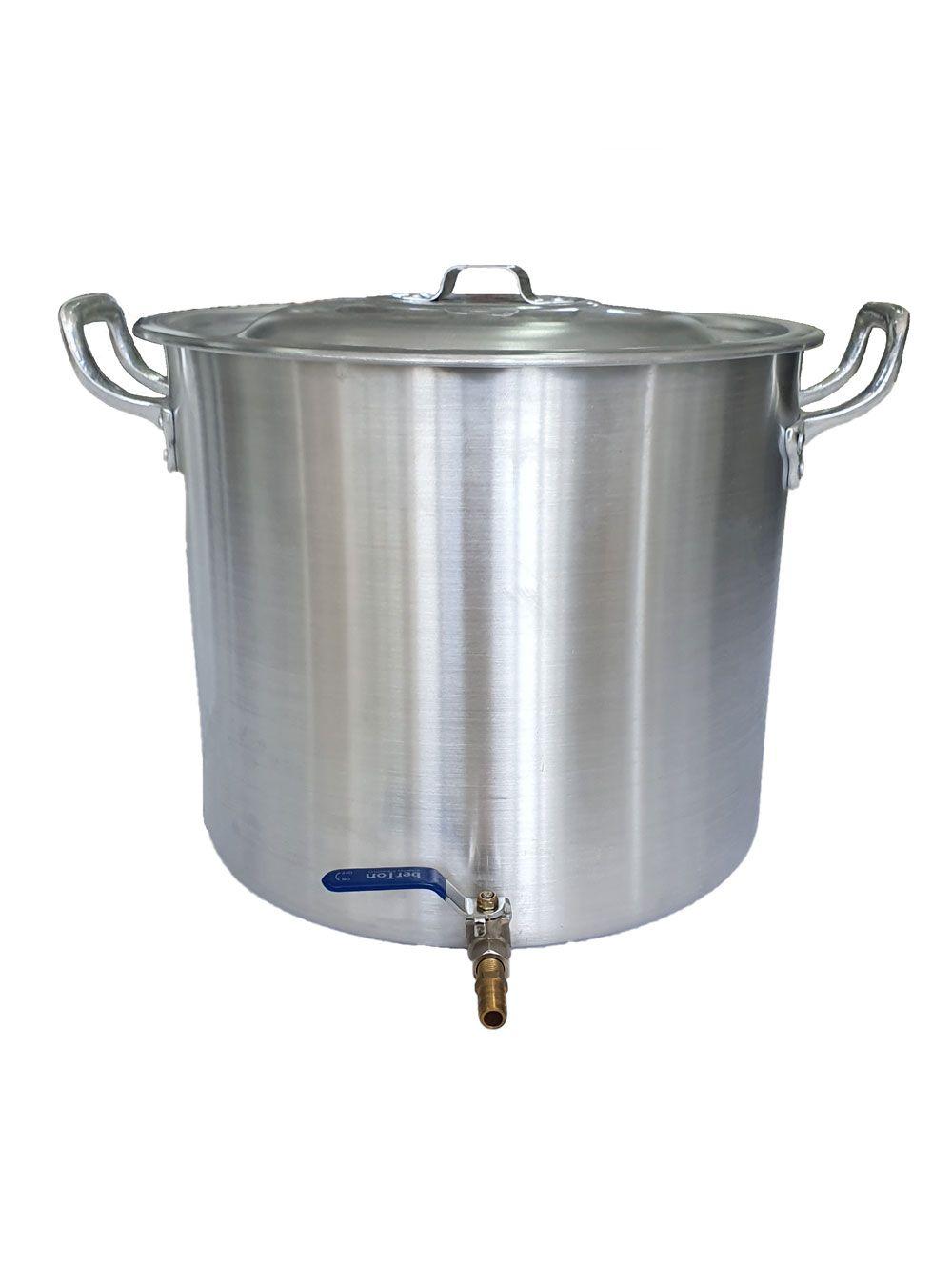 Caldeirão Cervejeiro 32,5 litros - 36 cm - com Registro - Alumínio ABC  - Lojão de Ofertas