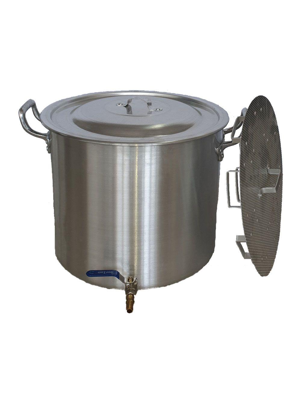 Caldeirão Cervejeiro 32,5 litros - 36 cm - com Registro e Fundo Falso - Alumínio ABC  - Lojão de Ofertas
