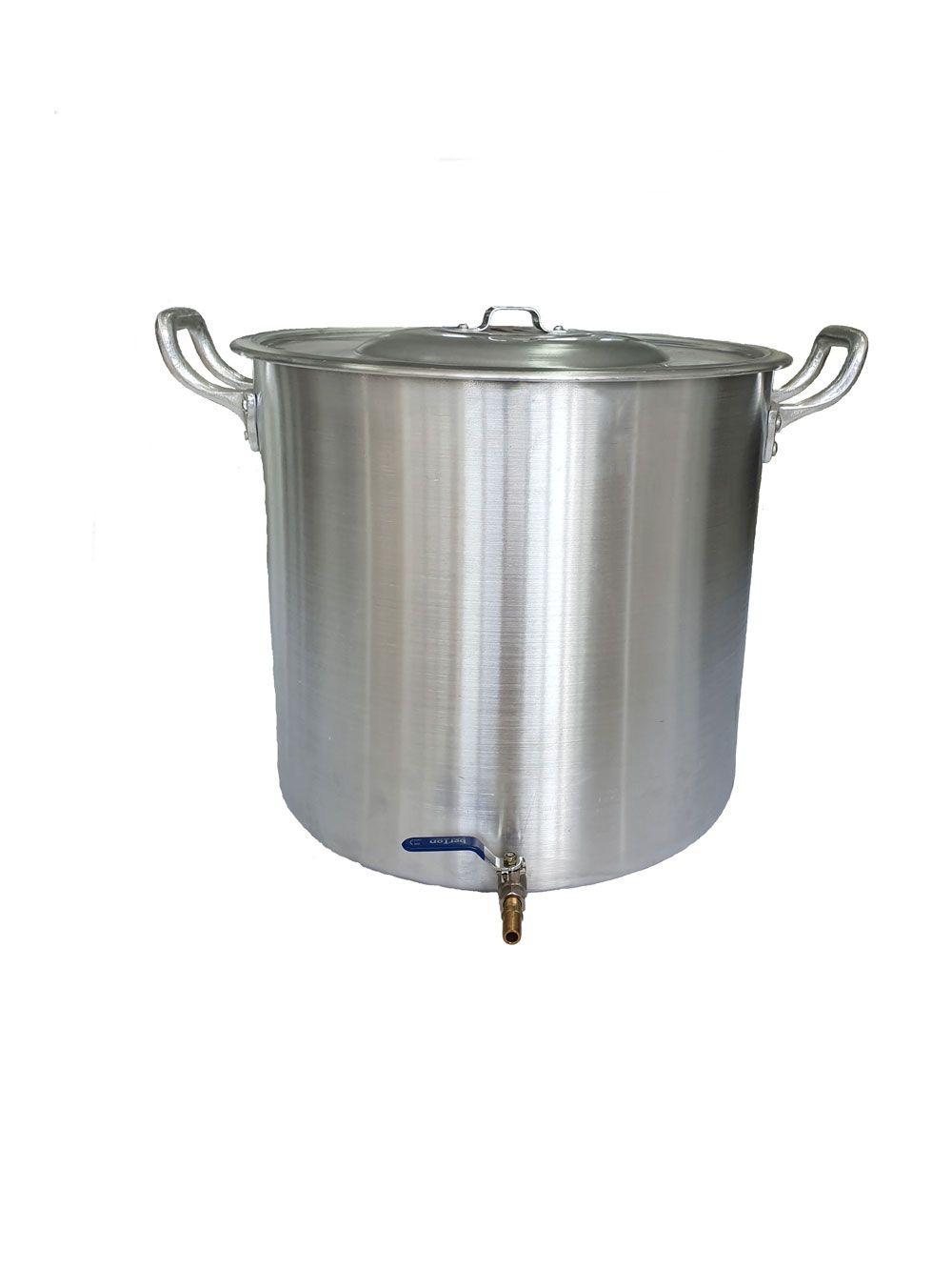 Caldeirão Cervejeiro 38,5 litros - 38 cm - com Registro - Alumínio ABC  - Lojão de Ofertas