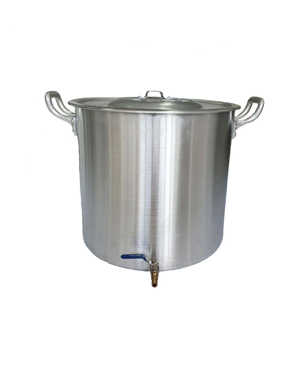 Caldeirão Cervejeiro 45 litros - 40 cm - com Registro - Alumínio ABC  - Lojão de Ofertas