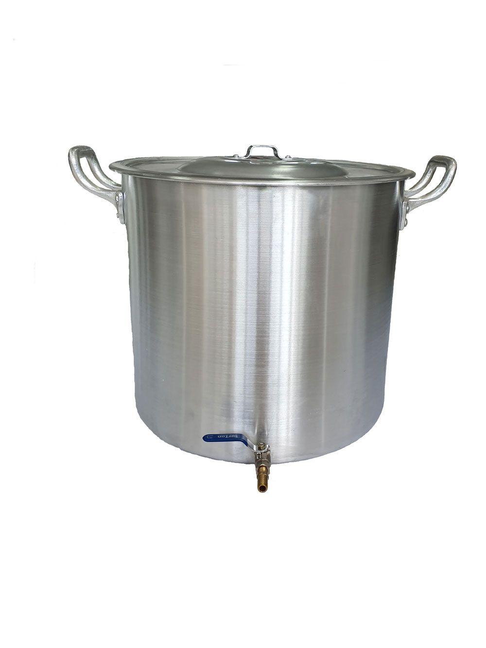 Caldeirão Cervejeiro 94,2 litros - 50 cm - com Registro - Alumínio ABC  - Lojão de Ofertas