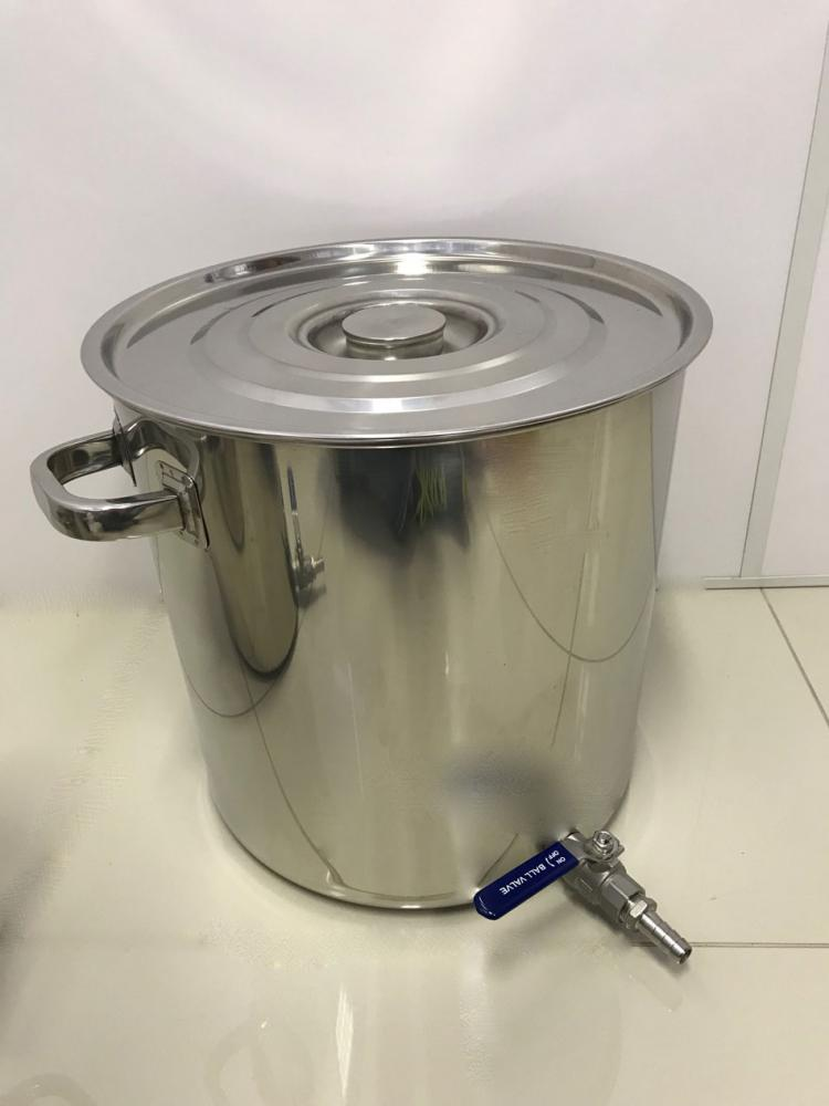 Caldeirão Cervejeiro Inox para Fervura - 35 cm - 32 Litros - com Registro  - Lojão de Ofertas