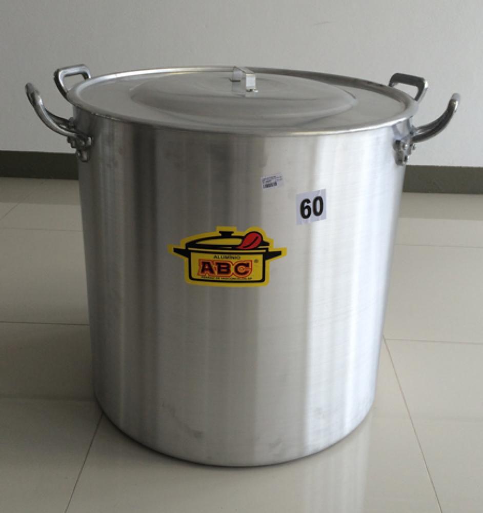 Caldeirão Hotel 60 cm - 170 litros - Linha ABC - Alumínio ABC  - Lojão de Ofertas