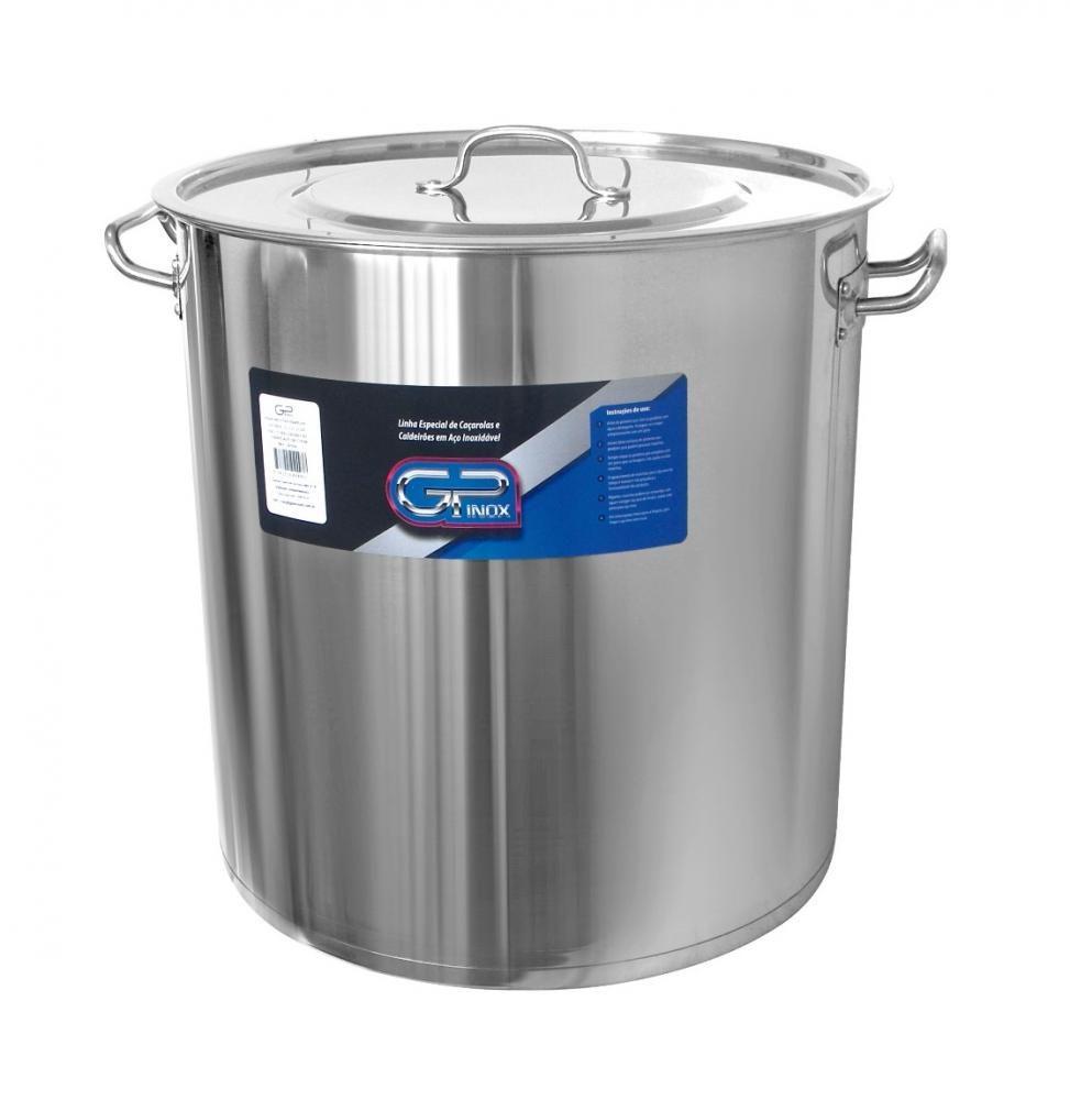 Caldeirão Inox 35 cm - 31,7 Litros - Fundo Triplo - GP Inox  - Lojão de Ofertas