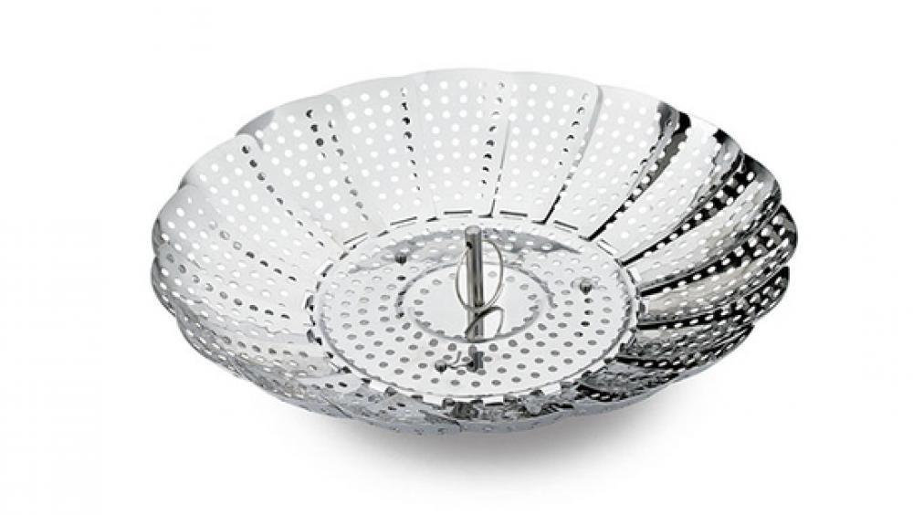 Cesta Inox de Cozinhar no Vapor 23 cm - Hércules  - Lojão de Ofertas