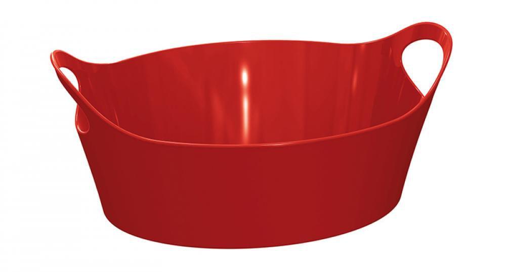Cesto Plus Pequeno Vermelho - UZ Utilidades  - Lojão de Ofertas