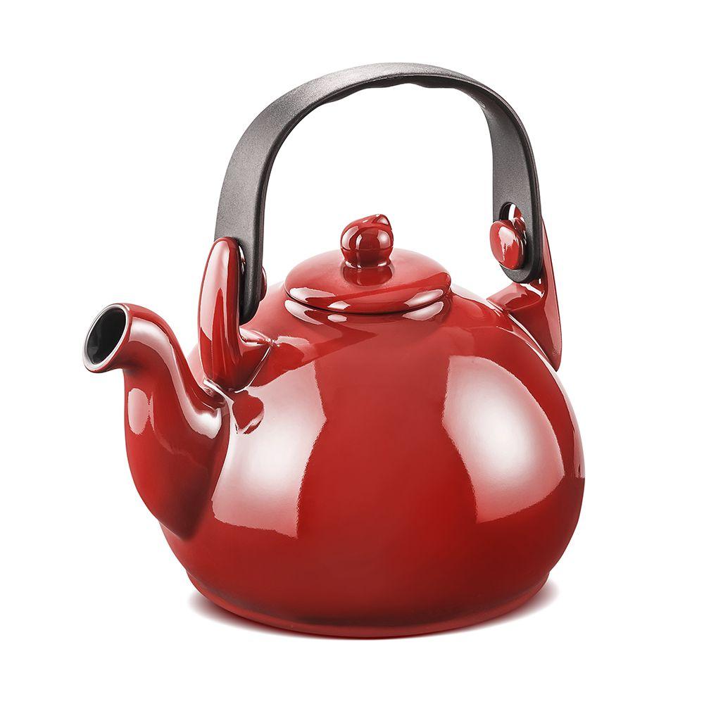 Chaleira Colonial 1,7 litros - Vermelha - Ceraflame  - Lojão de Ofertas