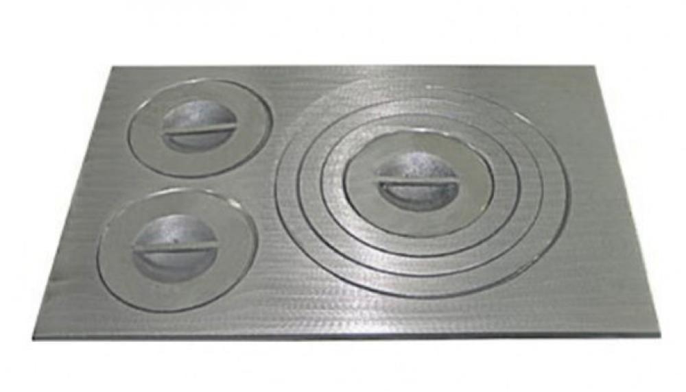 Chapa de Ferro para Fogão 85 x 47 cm - 3 Furos - Polida - Fundição Estrela  - Lojão de Ofertas