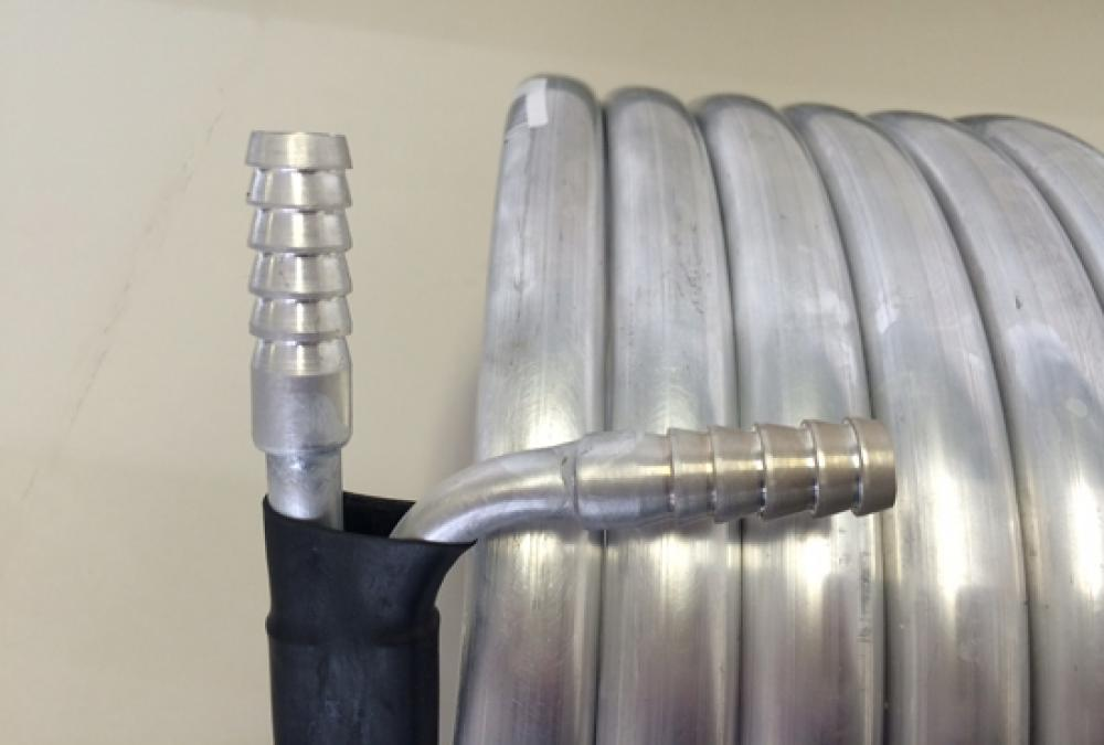 Chiller Tubular de Contra-Fluxo em Alumínio - 5 metros  - Lojão de Ofertas