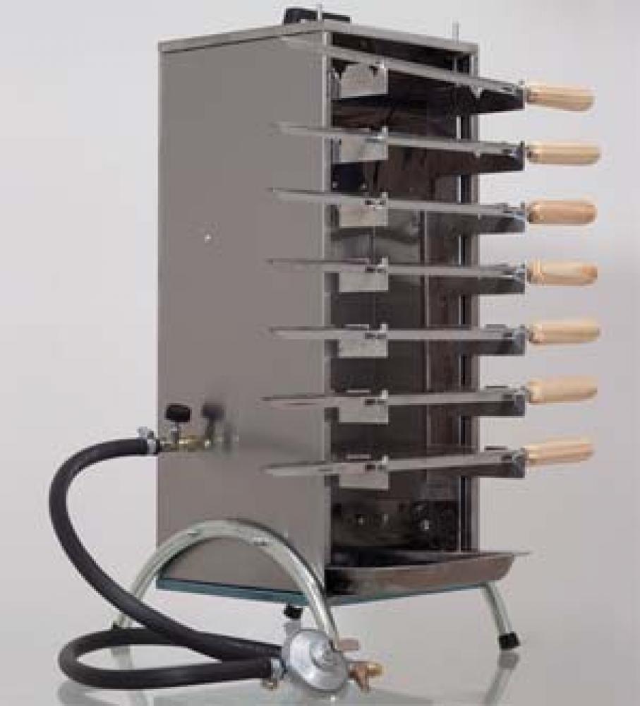 Churrasqueira a gás inox - 7 espetos - Suportel  - Lojão de Ofertas