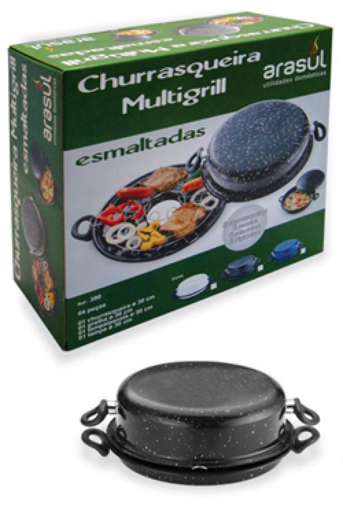 Churrasqueira Multigrill 30 cm - Arasul  - Lojão de Ofertas
