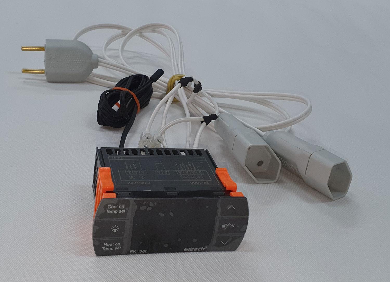 Controlador de Temperatura COM LIGAÇÃO - 2 Estágios - EK-1000 - Elitech   - Lojão de Ofertas