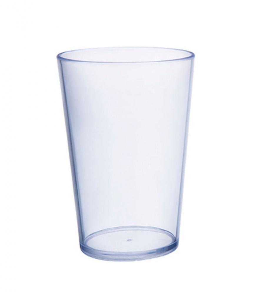 Copo 300 ml - Plástico Transparente - Taumer  - Lojão de Ofertas