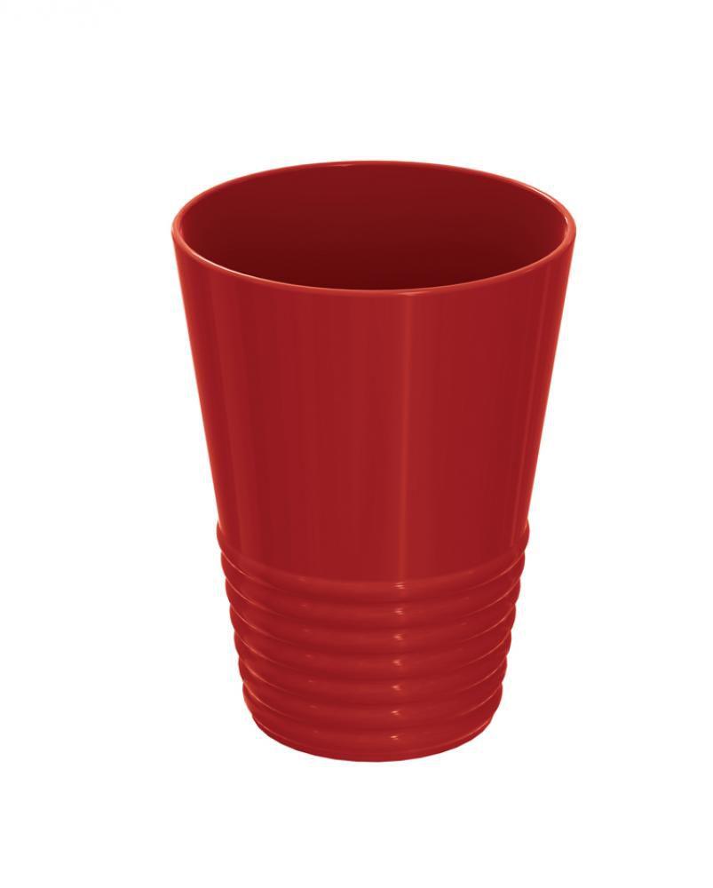 Copo Gomado 300 ml Plus - Vermelho - UZ Utilidades  - Lojão de Ofertas