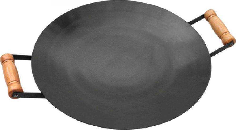 Disco de Ferro 43 cm - Alças de Madeira - Papaléguas  - Lojão de Ofertas