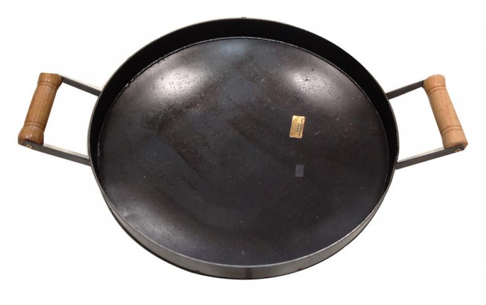 Disco de Ferro 38 cm - com Borda e Alças - Papaléguas  - Lojão de Ofertas