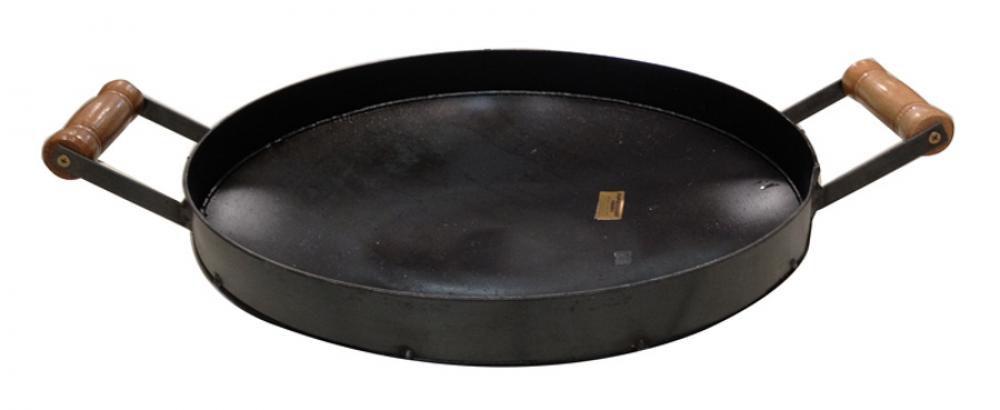 Disco de Ferro 43 cm - com Borda e Alças - Papaléguas  - Lojão de Ofertas