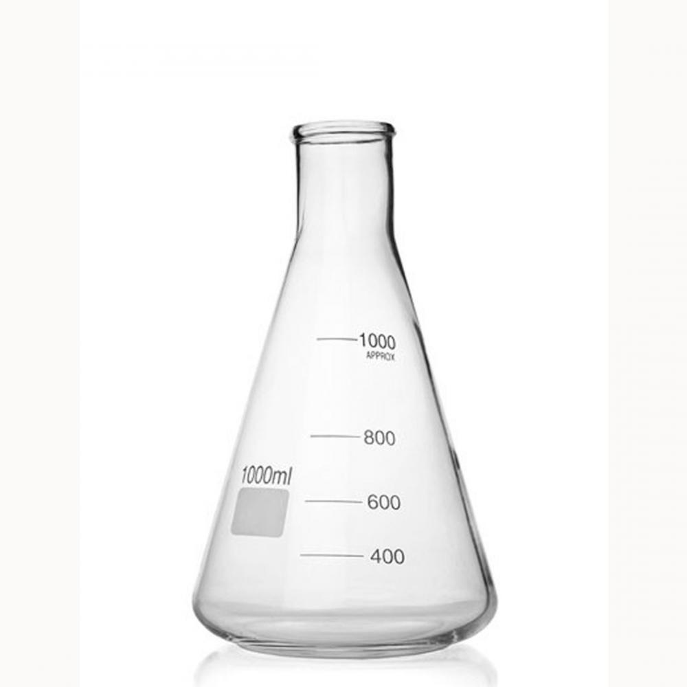 Erlenmeyer de Vidro 1000 ml - Carvalhaes  - Lojão de Ofertas