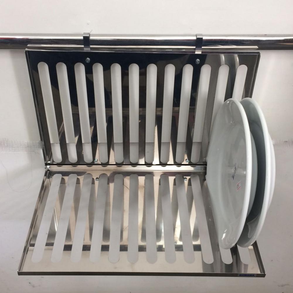 Escorredor Inox para 12 pratos - Linha Haus - Domama  - Lojão de Ofertas