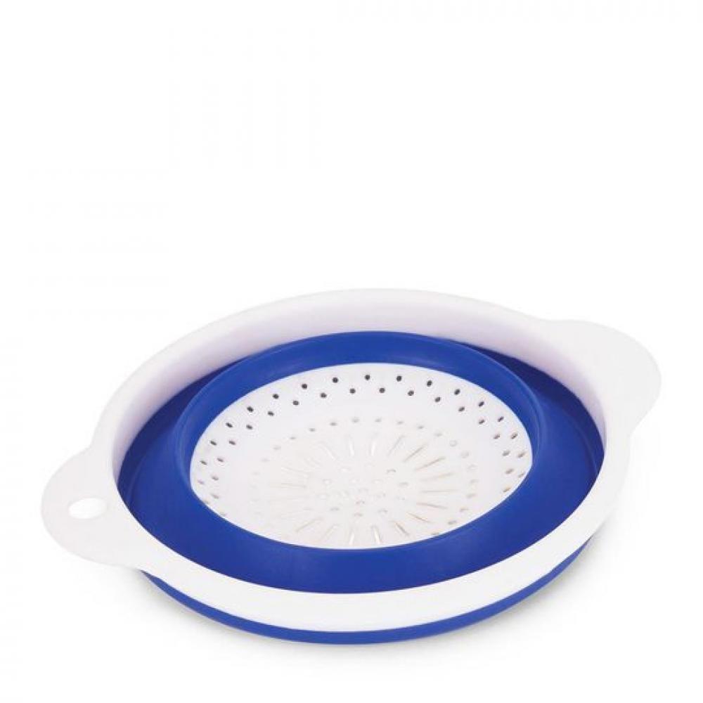 Escorredor Retrátil 23,5 cm Redondo - Azul - Ricaelle  - Lojão de Ofertas