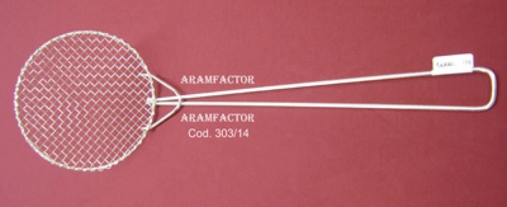 Espumadeira para Frituras 14 cm - Aramfactor  - Lojão de Ofertas