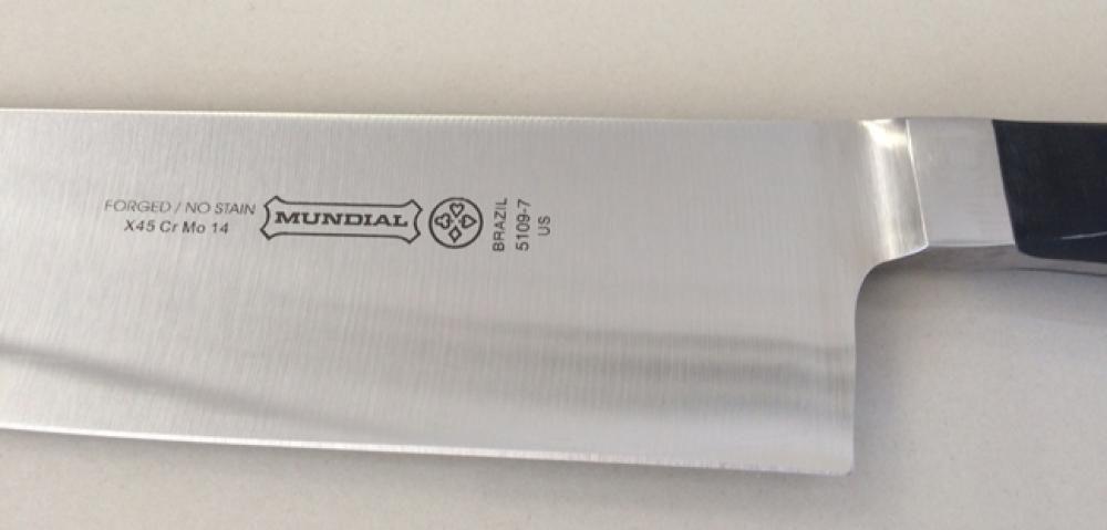 """Faca Santoku 7"""" - Linha Chef - Mundial  - Lojão de Ofertas"""