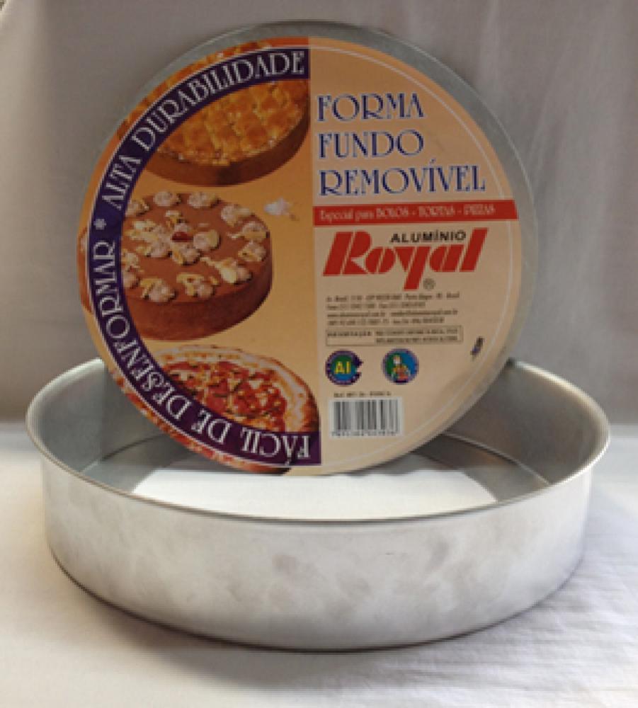 Forma de Bolo com Fundo Removível - Royal  - Lojão de Ofertas